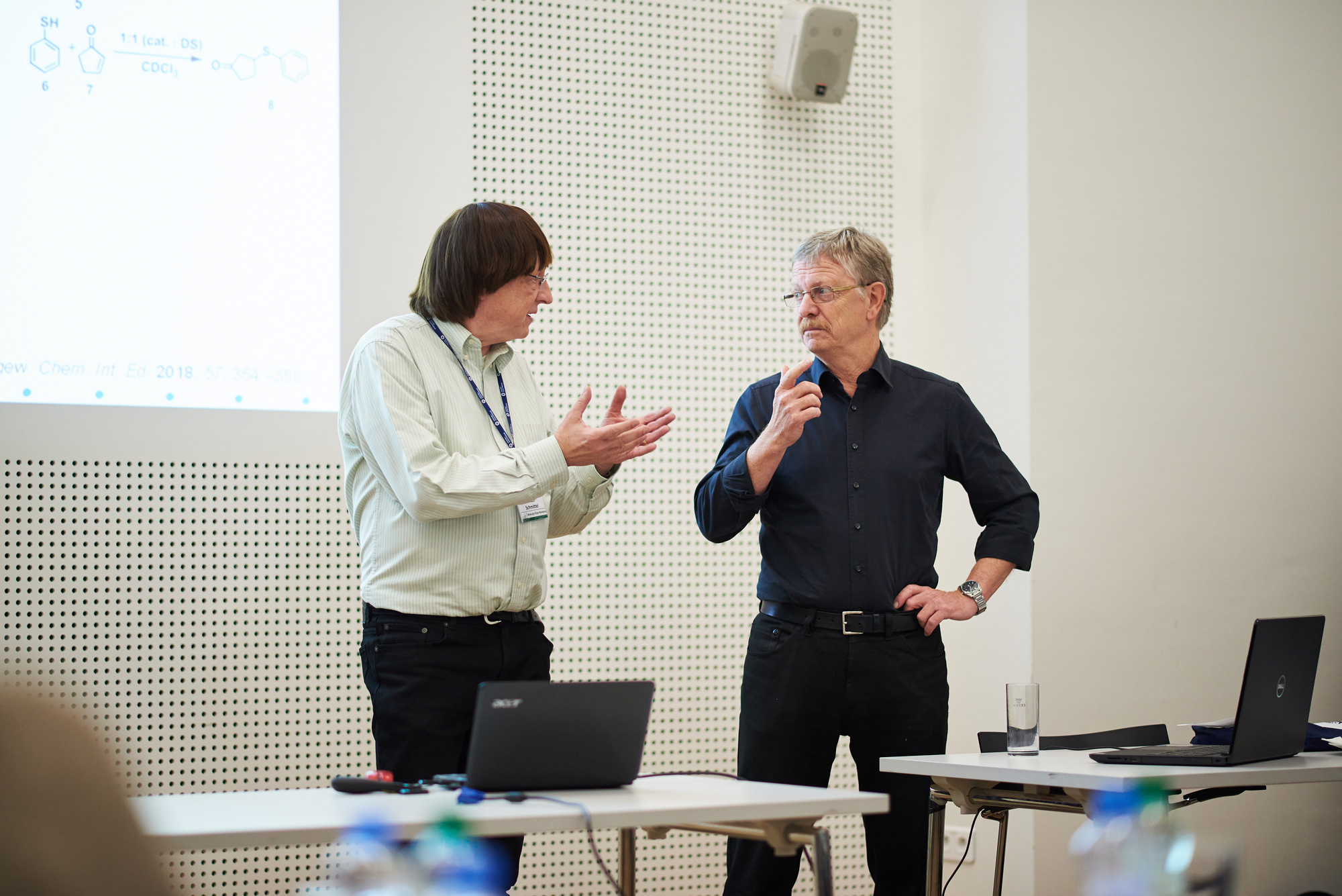 Michael Schmittel and Rainer Herges. Photo: Igor Rončević