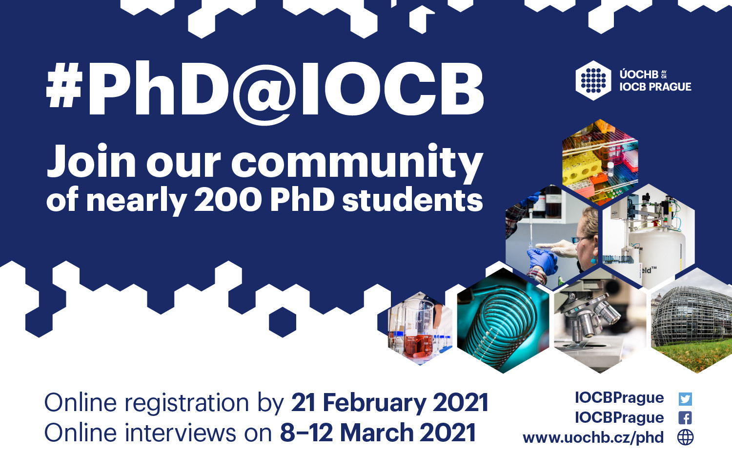 PhD projects at IOCB Prague – Call for Applications 2021
