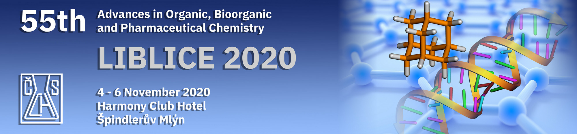 Liblice 2020 – 55th Advances in Organic, Bioorganic and Pharmaceutical Chemistry